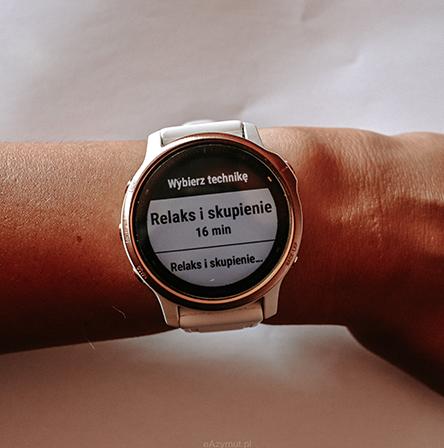 Ćwiczenia oddechowe w zegarku garmin